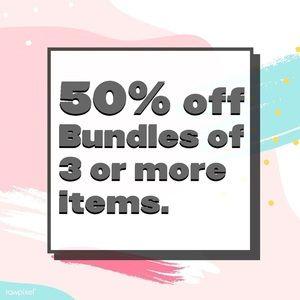 50% OFF BUNDLES